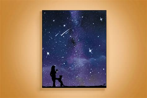 spray painting canvas pet memorial painting silhouette wall personalized