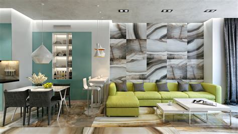 apartment themes green theme room interior design ideas