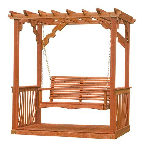 leisure time products pergola shop leisure time products 2 seat wood adirondek pergola
