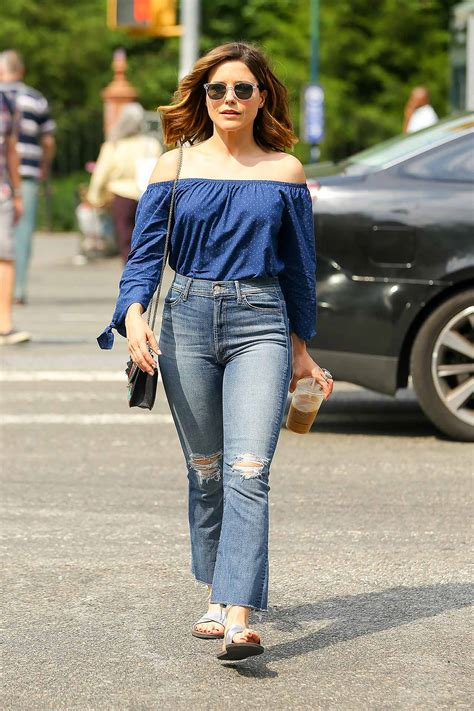 Sophia Bush Wears MOTHER Hustler Ankle Fray Jeans   The Jeans Blog