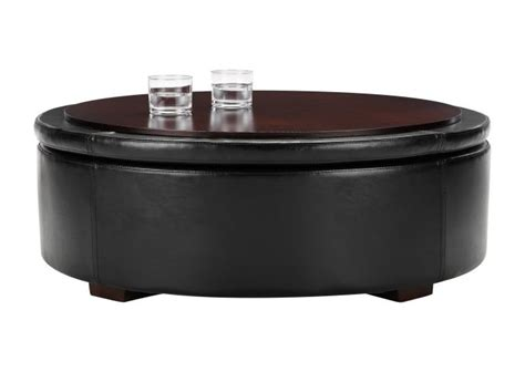 storage ottoman table black leather storage ottoman coffee table 28 images