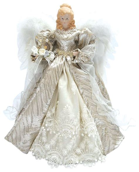 elagant angle 16 quot silver tree topper traditional