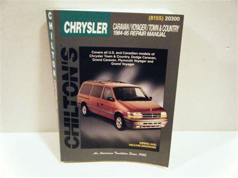 car repair manual download 1992 plymouth grand voyager instrument cluster purchase chilton chrysler caravan voyager town country repair manual 1984 1995 motorcycle