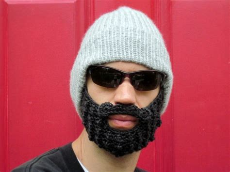 knit hat with beard you need a lumberjack hat didn t you hear