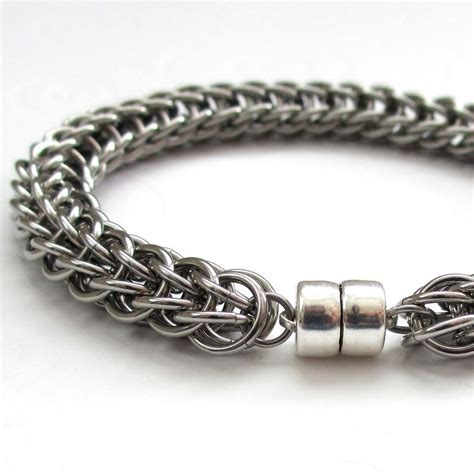metal for bracelets s chainmail bracelet stainless steel
