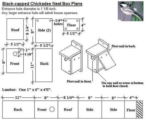 black capped chickadee bird house plans diy for