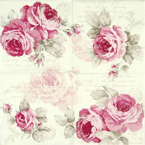 decoupage roses details about 4x single lunch paper napkins for