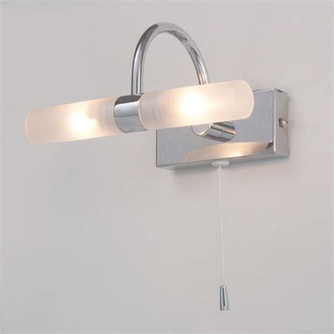 wall lights bathroom crista bathroom wall light with pull cord chrome from