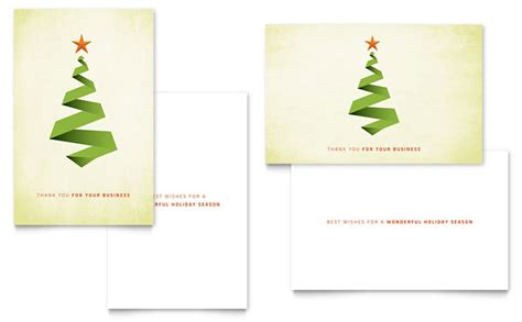 card ideas and templates ribbon tree greeting card template design