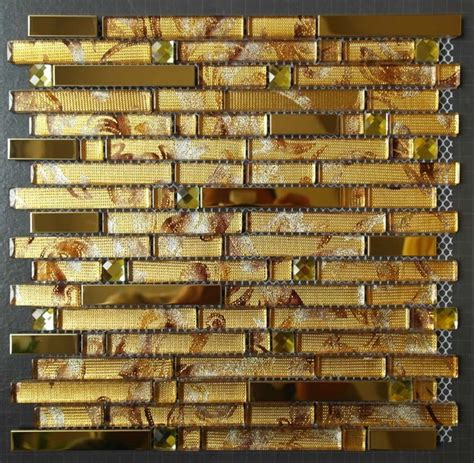 gold glass tile backsplash glass mosaic tiles ssmt244 gold stainless steel tile
