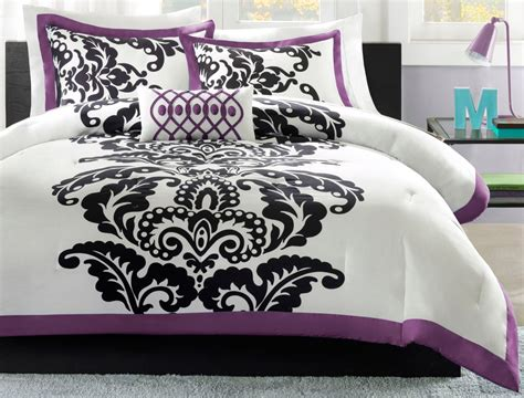 purple and white comforter sets total fab purple black and white bedding sets drama uplifted