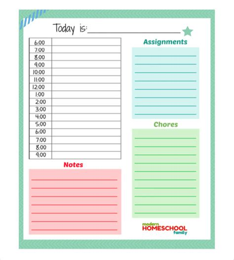 home planner free daily planner template 26 free word excel pdf