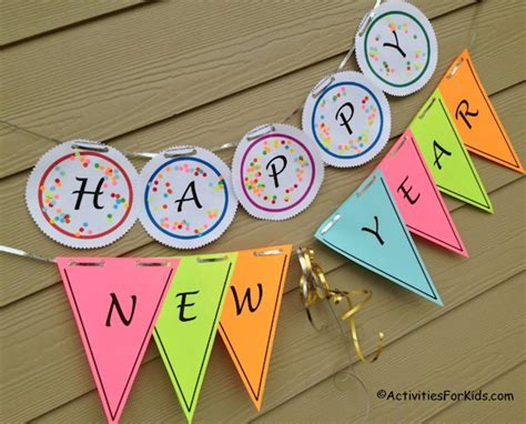 happy new year crafts for printable happy new year banner for