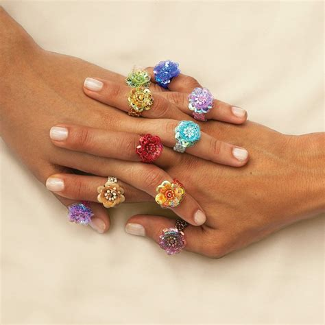 beaded ring javanese flora beaded rings national geographic store