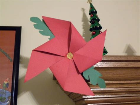 poinsettia paper craft the kid s review poinsettia pinwheel craft