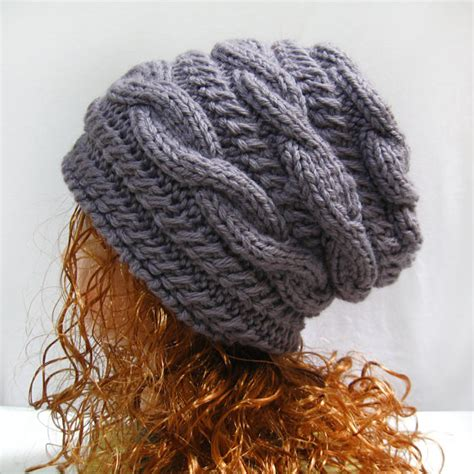 pattern for knitted slouch hat pattern slouchy gifts shop