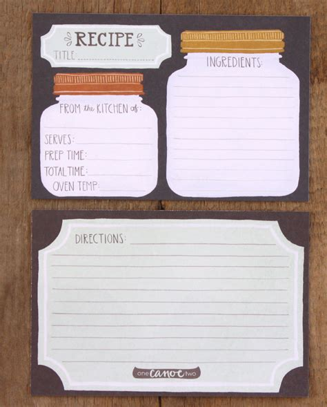 how to make a recipe card 30s breakdowns friendship types and the cutest recipe