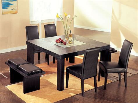 kitchen tables and benches dining sets modern square dining table