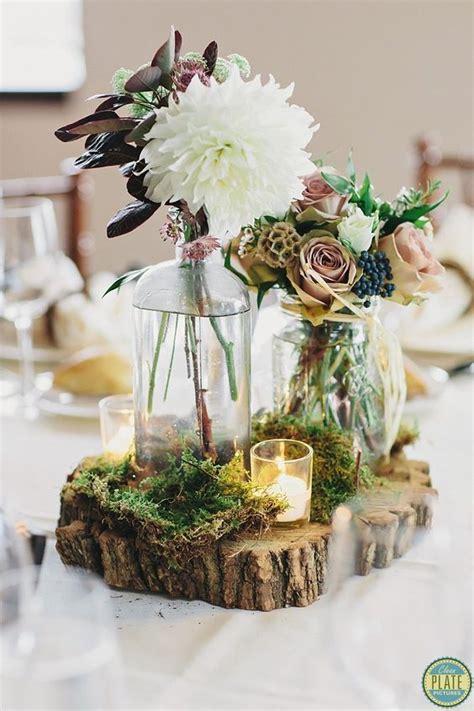 tree table decorations best 25 moss centerpiece wedding ideas on