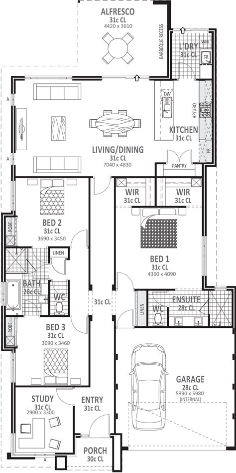 3 bedroom home floor plans 3 bedroom house plans designs perth vision one homes