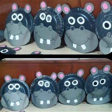 hippo paper plate craft hippo craft idea for crafts and worksheets for