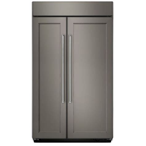 KitchenAid KBSN608EPA 48 Inch Width Panel Ready Built In Side by Side Refrigerator 30.0 cu.