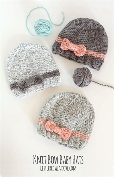 baby hats to knit knit bow baby hats window