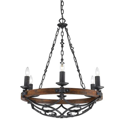 iron chandelier vargas collection 6 light black iron chandelier 826mpbi