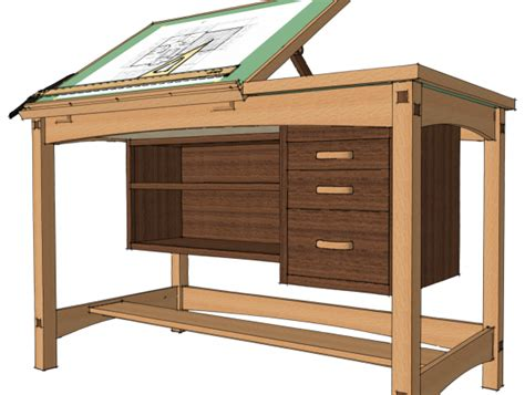 woodworking plans drafting table exchanging components finewoodworking