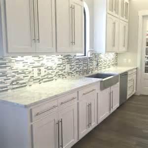 white kitchen glass backsplash a kitchen backsplash transformation a design decision