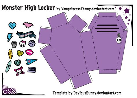 3d paper crafts templates high locker papercraft by vrincessthamy on
