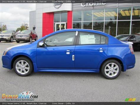 2011 Nissan Sentra Sr by 2011 Nissan Sentra 2 0 Sr Metallic Blue Charcoal Photo