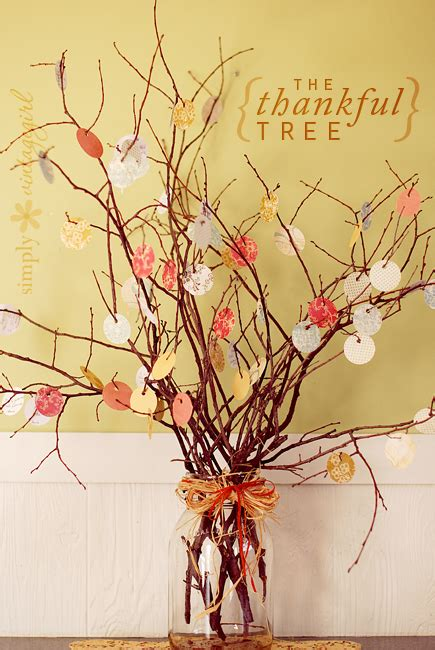 thankful tree craft for simply vintagegirl 187 the thankful tree
