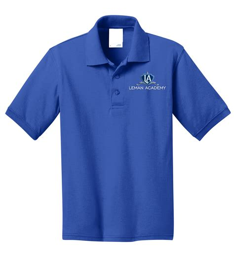 what does jersey knit leman youth blend jersey knit polo lac 001 leman