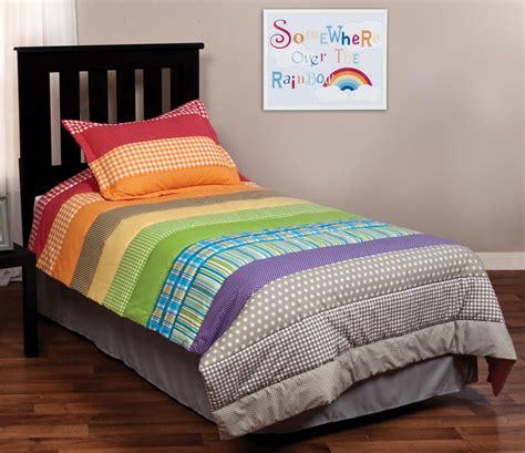 rainbow bedding rainbow connection bedding set trend lab