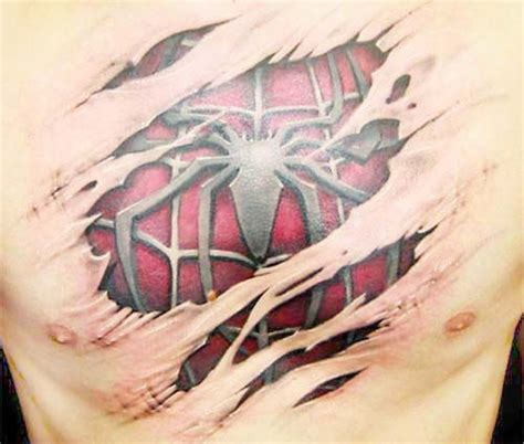 types of 3d tattoos for men cool 3d spiderman tattoo