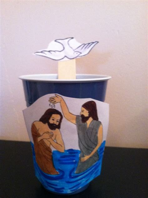 baptism crafts for the baptist and jesus craft bible activities for