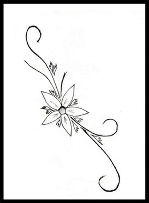 flower tattoo drawings clipart best