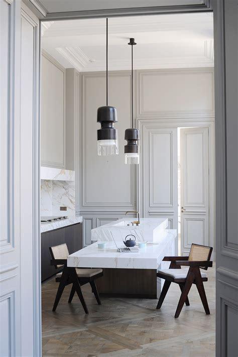 parisian kitchen design a apartment by joseph dirand in germain des