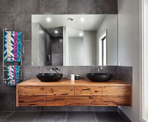 modern grey bathroom ideas 25 best ideas about timber vanity on modern