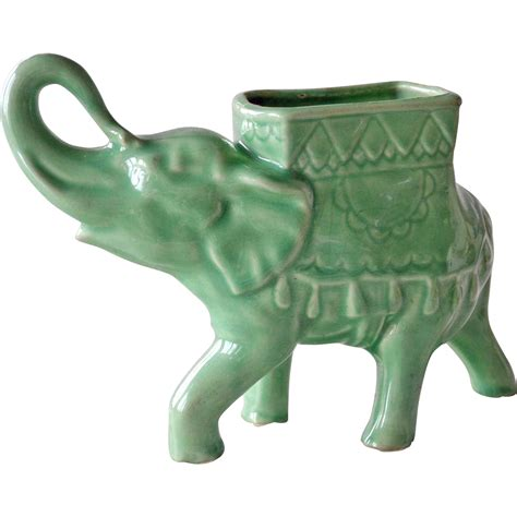 porcelain elephant porcelain elephant planter vintage from artsnends on ruby