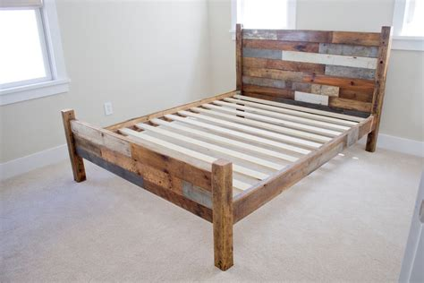 wood bed frames with headboard diy beautiful wooden pallet bed frame ideas