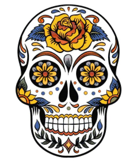 for sugar skull large sugar skull cross stitch pattern