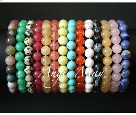 cheap bead bracelets wholesale lot 50 gemstone bead stretch bracelets ebay
