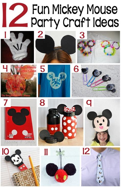 mickey mouse craft projects boredombustercrafts easy crafts of all kinds mickey
