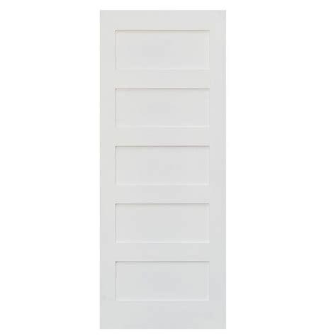 solid mdf interior doors krosswood doors 36 in x 80 in shaker 5 panel primed