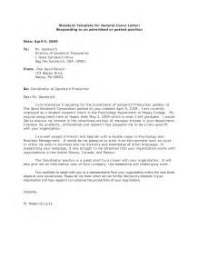 general cover letter examples for employment