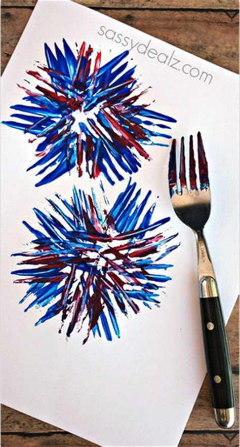 firework craft for fireworks craft using a fork crafty morning