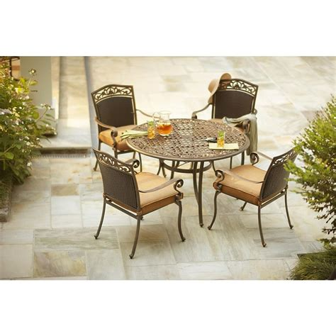 martha stewart patio dining set martha stewart living miramar ii 5 patio dining set
