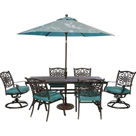 4 patio set with umbrella patio set with umbrella mississippi 7 pc aluminum patio